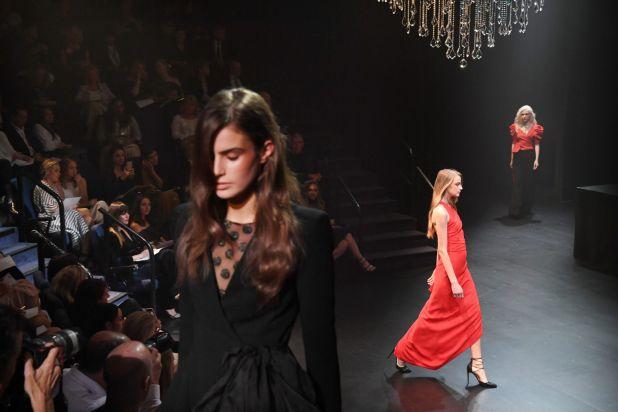 Models at the Carla Zampatti spring-summer show.
