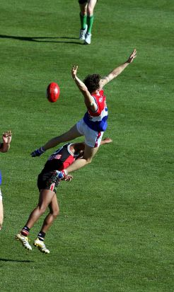 And he didn't mind flying, either. This against St Kilda in 2006.
