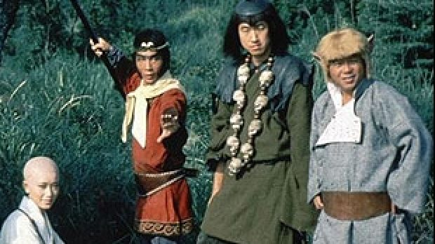The original cast of <i>Monkey Magic</i>.