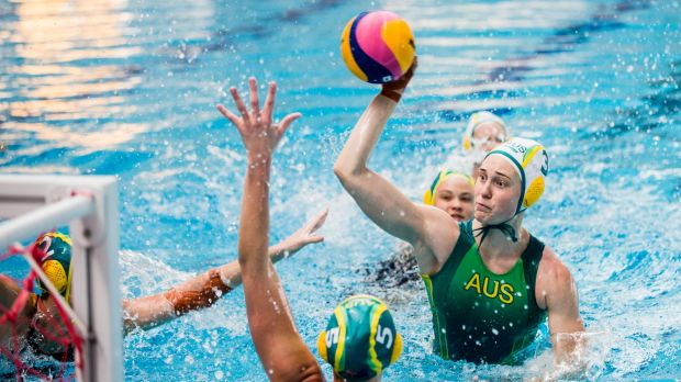 Australian women's water polo team starting their 2020 Olympic games preparation at the AIS. Rio Olympian Hannah Buckling.