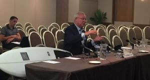 Shark Shield managing director Lindsay Lyon told the senate inquiry his company was about to trial a new device.