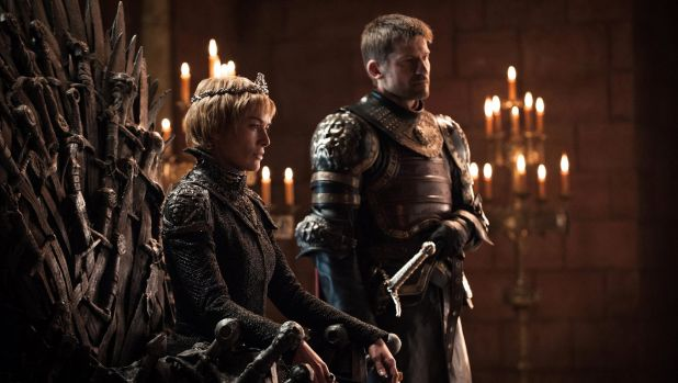 He's got a big armada: Cersei Lannister listens to Euron Greyjoy's proposal, with her brother, Jamie, on Game of Thrones.