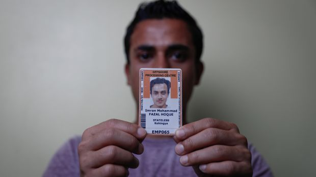"Imran Mohammad Fazal Hoque, a detainee on Manus Island: ""Australia, it is your responsibility to move all of us to ..."