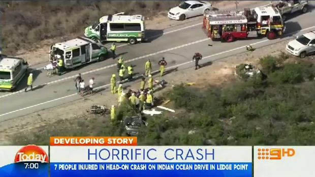 Seven people were injured in the serious crash.