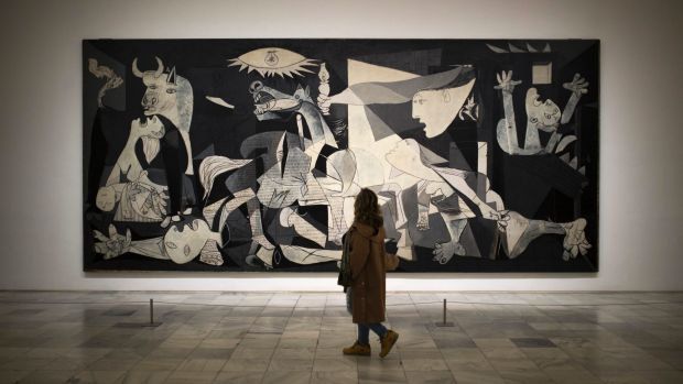 Pablo Picasso's painting <i>Guernica</i> depicts the terror of the bombing.