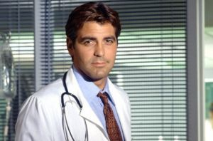 George Clooney as Dr Doug Ross on ER.