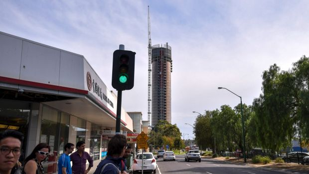 Whitehorse Towers, a new apartment building in Box Hill, is 36 storeys. A new plan would make 30 storeys the preferred ...