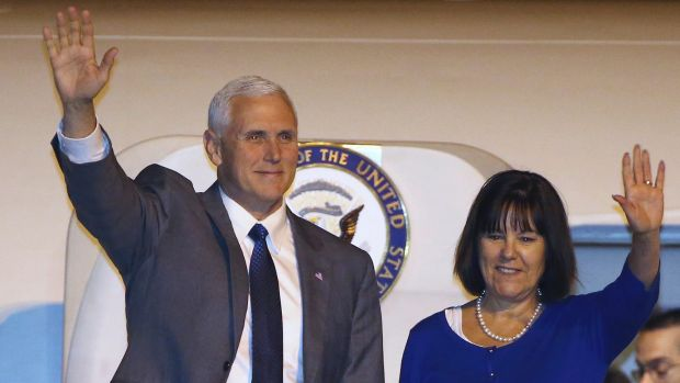 US Vice President Mike Pence (left) will meet with Australian PM Malcolm Turnbull on Saturday as part of his 10-day, ...