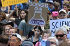 SYDNEY, AUSTRALIA - APRIL 22: The March for Science Sydney rally in Marin Place on April 22, 2017 in Sydney, Australia. ...