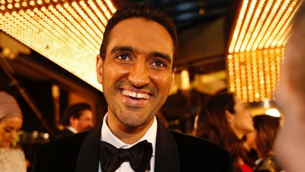 2016 Gold Logie winner Waleed Aly on the red carpet.