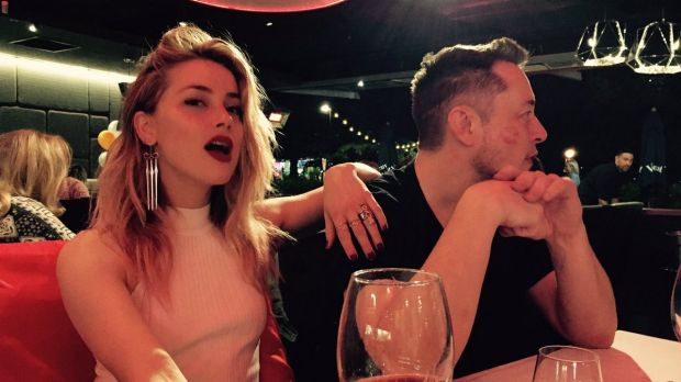 Amber Heard and Elon Musk on the Gold Coast in April.