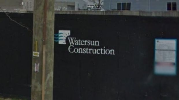 Signage for Watersun Construction at a Blackburn site in September.