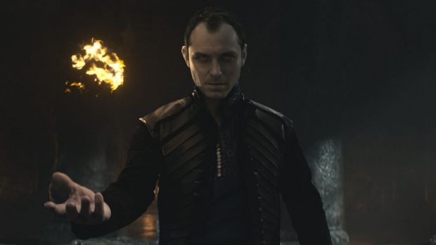 Jude Law as Vortigern in the new <i>King Arthur</i>.