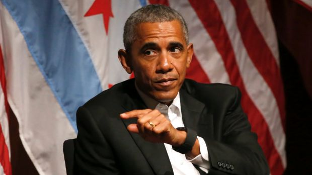 Former president Barack Obama has largely avoided criticising his successor