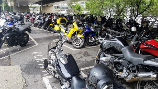 Motorbike parking in Brisbane's CBD is frequently at capacity.