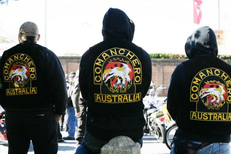 The recent feud is believed to be between rival Comancheros and Nomads bikie gangs.