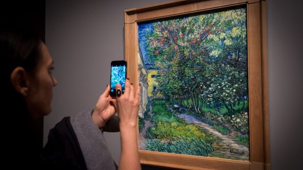 People have been lining up for hours to get a look at the Van Gogh exhibition at the NGV.