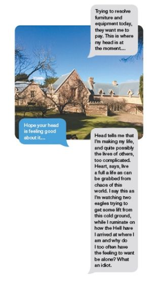 More text exchanges between the writer and the man included photos of the NSW Southern Highlands property the man ...