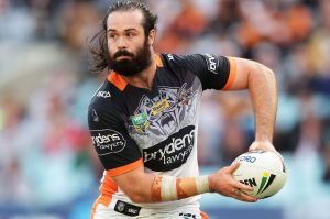 Full concentration mode: Aaron Woods.