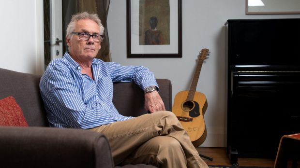 Author, Kim Dalton, who is publishing a critique of ABC practices, in his Sydney home.
