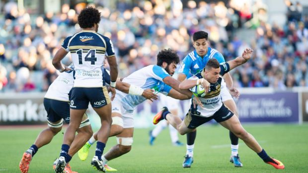 Tom Banks started at fullback for the Brumbies against the Auckland Blues.