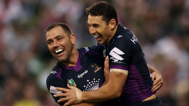 Drought breaker: Billy Slater had not scored a try since round nine in 2015.