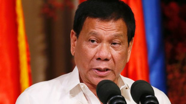 President Rodrigo Duterte drew attention to the warning - which Beijing did not immediately confirm -  in a speech to ...