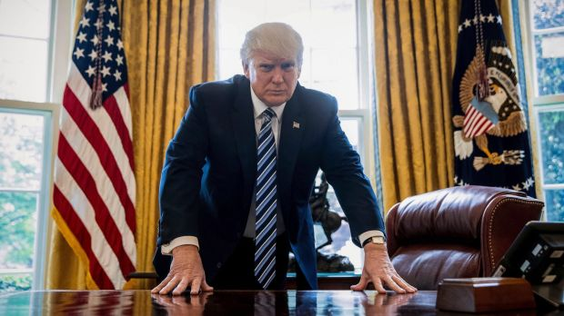 US President Donald Trump in the Oval Office. A significant group of voters who supported Barack Obama in 2012 ended up ...