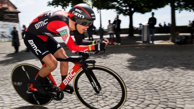Richie Porte, pictured earlier this month during his triumphant run at the Tour de Romandie, was edged out by just 10 ...