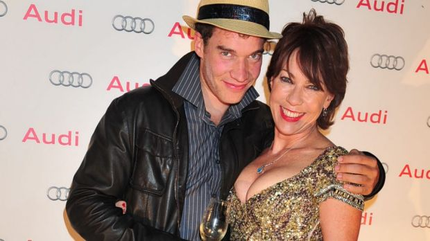 Kathy Lette with her son Julius.