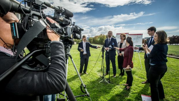 ACT Chief Minister Andrew Barr and Minister for Transport and City Services Meegan Fitzharris announce the first round ...