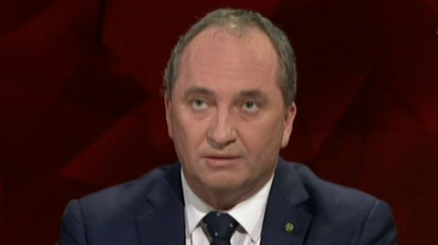 Barnaby Joyce says people 'can't go to work if you are smashed or drugged'.