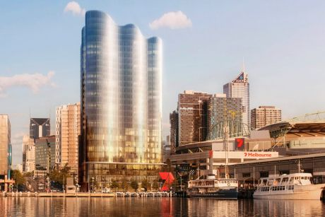 Salta Properties' proposed new 26 storey apartment tower with an Indigo Hotel in Docklands.