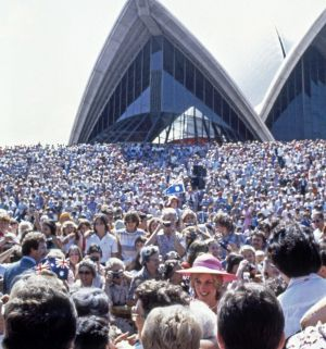 Diana and Charles at the Sydney Opera House in 1983.