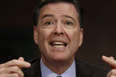 James Comey was leading an investigation into links between Donald Trump and Russia when he was sacked.