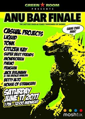 A poster for the new lineup featuring Betty Alto at the ANU Bar Finale.
