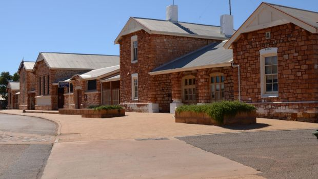 Cue Police Station is about 620km north-east of Perth.