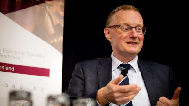 "RBA governor Philip Lowe. The board said a ""neutral"" cash rate of 3.5 per cent would be the point at which stable ..."