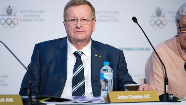 John Coates at the AOC meeting  in Sydney.