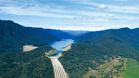 Dam and water storage for the hydro scheme in the Snowy Mountains - but there are thousands more sites.