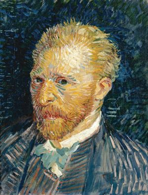 Self portrait by Vincent van Gogh, painted in 1887.
