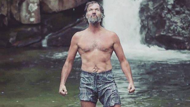 Embracing the chill: 'Iceman' Wim Hof.