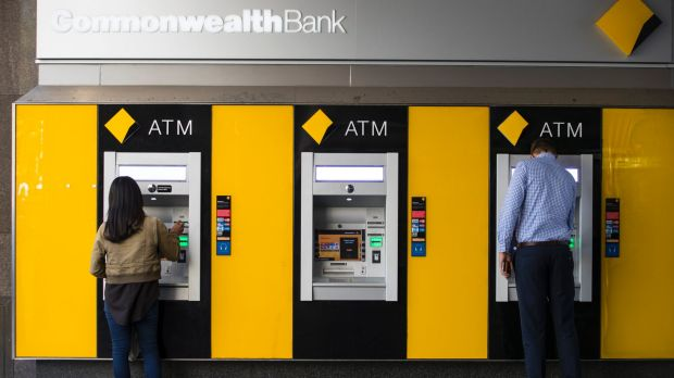 Generic Commonwealth Bank. Banking, CBA, ATM, Business. 18th April 2017. AFR photo Louie Douvis .