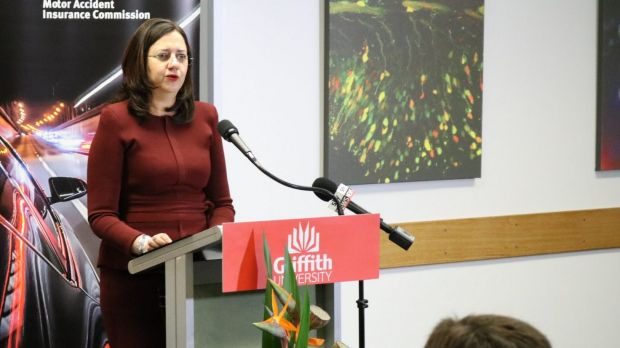 "In the maroon top was Queensland Premier Annastacia Palaszczuk, saying the state was ""robbed""."
