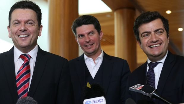 Senators Nick Xenophon, Scott Ludlam and Sam Dastyari are keen to hear from TPG Capital about how they would manage ...