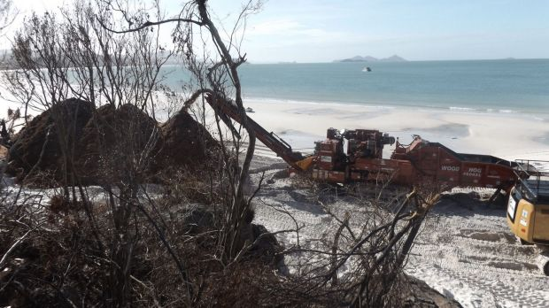 Cyclone Debbie affected tourism in the Whitsundays, with Whitehaven Beach (pictured) suffering significant damage.
