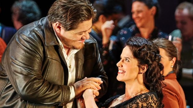 Diego Torre as Turridu and Sian Pendry as Lola in Opera Australia's Cavalleria Rusticana.