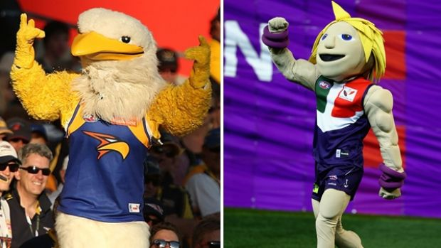 The man behind the Eagles and Dockers mascot mask is the same.