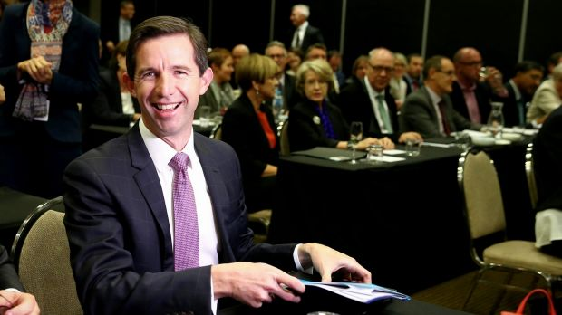 Simon Birmingham has a two-pronged strategy over Gonski 2.0.