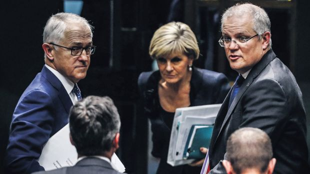 Malcolm Turnbull, Scott Morrison and Julie Bishop have had plenty to get on with, OK?